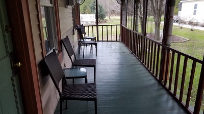 Screened-In Porch at Garden House